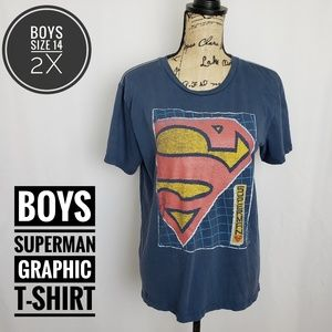 Junk Food Boys Superman Graphic T-Shirt